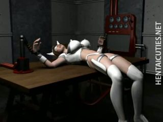 Hottie 3d hentai vergs gets tied augšup