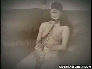 Viktoria blind folded tug baan