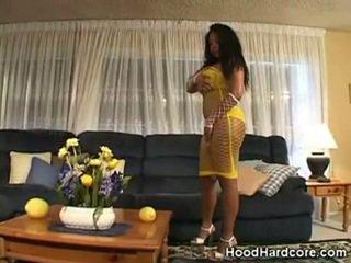 Busty Ebony Babe Job