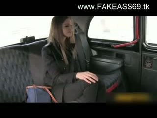 Big titted pirang fucked hard by fake taxi driver