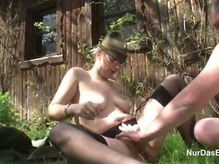 섹스하고 싶은 중년 여성, hd 포르노, 야외