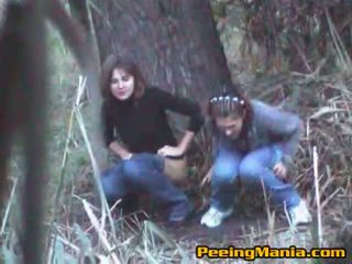 Girls Caught Peeing Inside The Forest