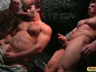 Bunker الشرجي اللعنة مثلي الجنس مجموعة من ثلاثة أشخاص
