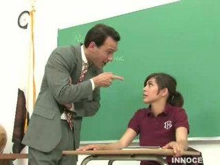 sinh viên, đáng yêu, spanked