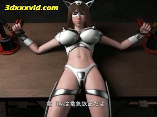 Hentai-3d electro maska vs the baltie vāvere