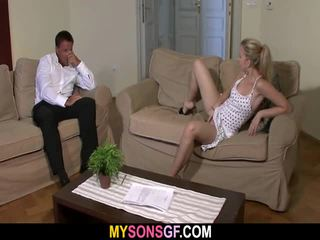 Hung Dad Does Son's GF