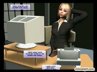 3d Comic Office Girl With Bigboobs