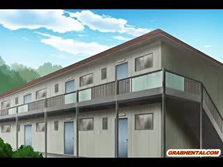 ボインの 日本語 エロアニメ ママ ホット gangbanged
