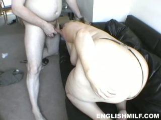 Blonde UK BBW lady fucked roughly on t...
