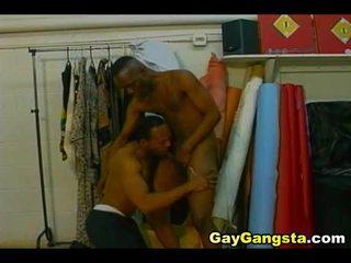 Sexy ebony gays anaal neuken madly