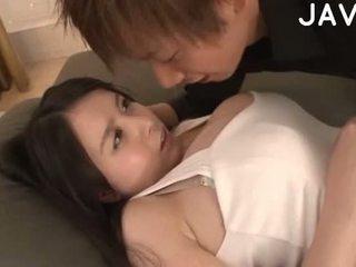امرأة سمراء, اليابانية, كبير الثدي