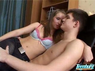Lustful man kisses girls