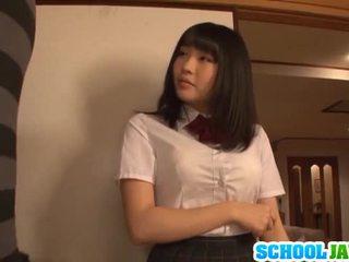 Satomi appreciates كبير طويل pork dagger