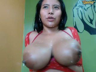 si rambut cokelat, squirting, big boobs