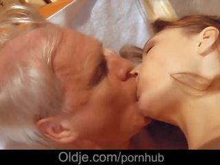 Macy Nata enjoys fucking her next door still stallion old man