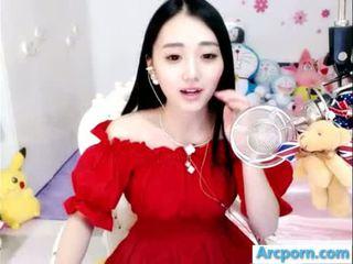webcam, gadis, cina