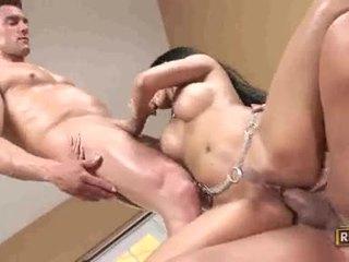 Priva goes jāšanās mežonīga getting dp pounded ar powerful jocks