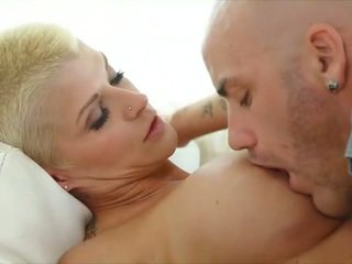 Bald dude licking very hot 40yo mature...