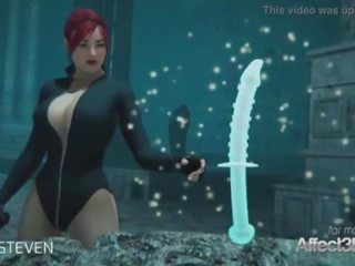 3d animatie moster seks met een rood haar groot tieten babe