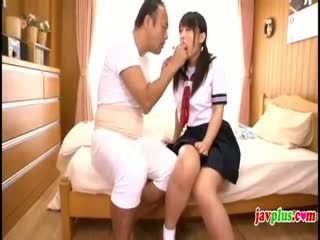 Japanese Innocent Schoolgirl Seduced By Old Ugly Uncle