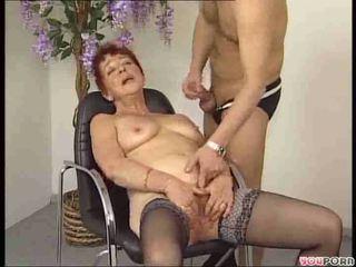 older, granny, redheads