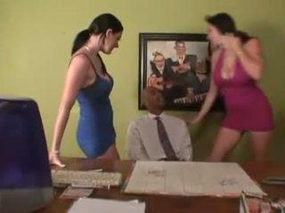 big tits, office, pornstars