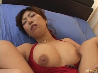 Big boobed asian Naho Hazuki gets her ...