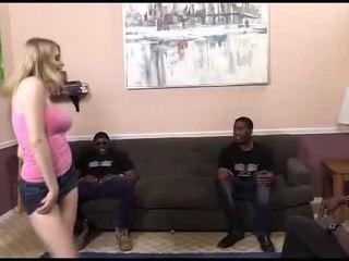 Allie Jamess interracial anal gangbang