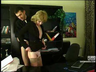 crossdresser, office, anal