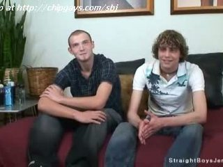 Both straight boys get naked