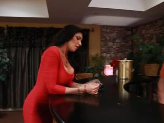 Big titted tattooed romi ýagyş takes pisser from her boyfriends son