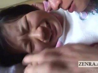 Jaapan koolitüdruk licked kõik üle english subtitles