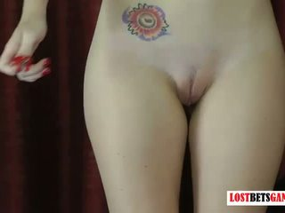 2 Beautiful Girls Play a Game of Strip Darts: Free Porn 26