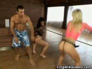 Aerobics en lingeries