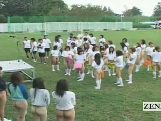 Subtitled bottomless आउटडोर जापान schoolgirls assembly