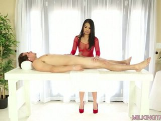 Cindy Starfall Milking her Client's Dick for some Cum