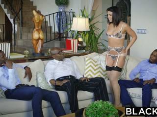 Blacked adriana chechik takes trio van bbcs