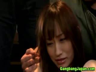 Aziatisch slet finger groep orgie
