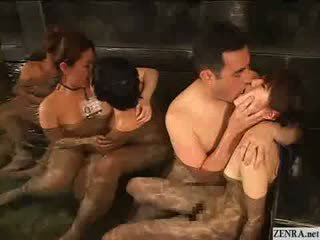 Japanese couples have group sex at a bath house