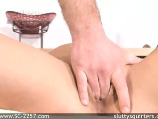 Gia loves fingering her pussy so deep down