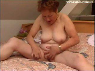 brunette, masturberen, oud