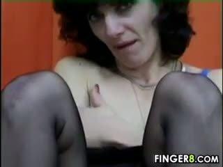 Hairy Mature Woman Masturbates Classic
