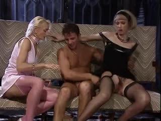 sexo grupal, ménage à trois, vintage
