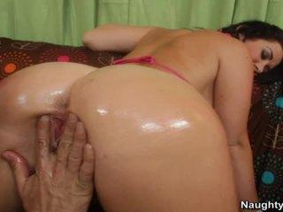 Jayden jaymes gets viņai grumble licked un stuffed