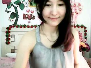Graziosa coreano cam ragazza tempting con grassoccio tette