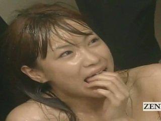 Subtitled enf cmnf loca japonesa corrida spattered profesora