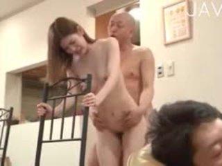 japanisch, gruppen-sex, cumshot