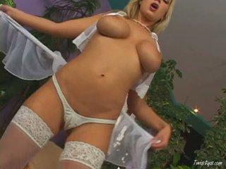 Breasty carol goldnerova rubbing שלה כוס wearing חם nylons