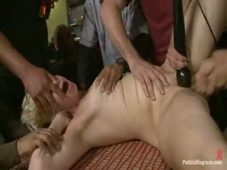 Alice Frost Is Tied Tightly, Made To Gag Onto Cock, Anally Fisted, Asshole Fucked, And Humiliated In A Public Bar In Porn Valley!