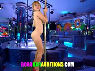 School girl needs money so she auditions at a strip bar
